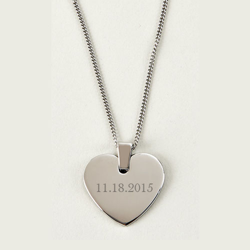 Date Heart Necklace: Engraved Gift Collection