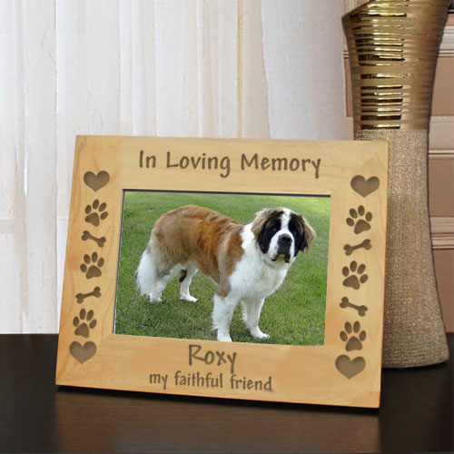 Dog Memory Frame: Engraved Gift Collection