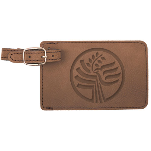 logo leather luggage tag engraved gift collection logo leather luggage tag
