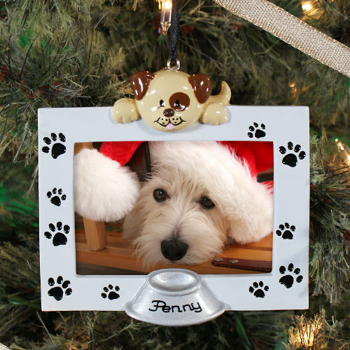 Dog Frame Ornament: Engraved Gift Collection