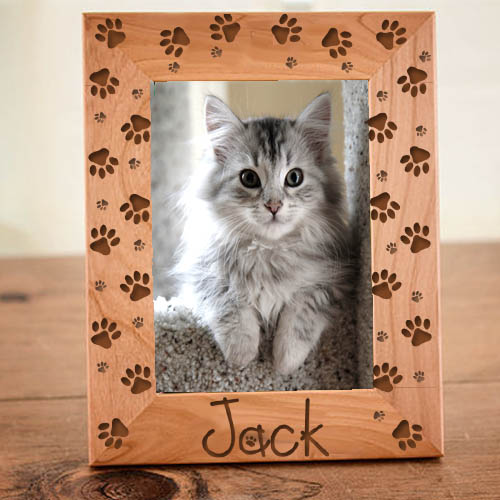 Pet Prints Frame: Engraved Gift Collection