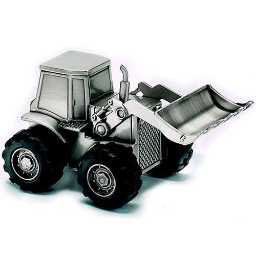 Pewter Tractor Piggy Bank Engraved Gift Collection