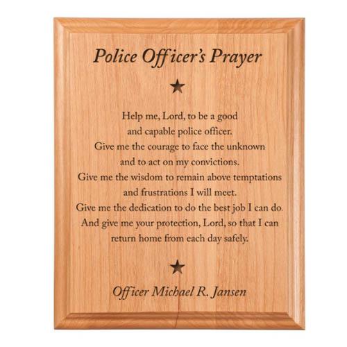 Police Prayer Plaque